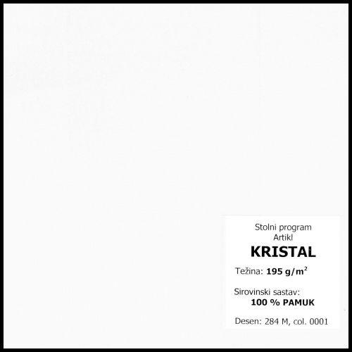 Stolnjak 130x130cm, damast - jednobojni - Bijelo