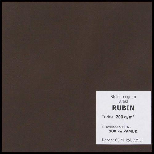 Stolnjak oval 160x220cm, damast - jednobojni - Bojano tamne boje
