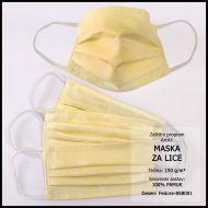 Maska za lice 10x18cm, damast - jednobojna - Bojano svijetle i srednje boje